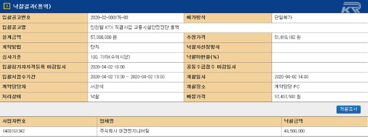 인천발 KTX직결사업 교통시설안전진단 용역.png